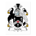 Escudo de la familia de Lewis Postales