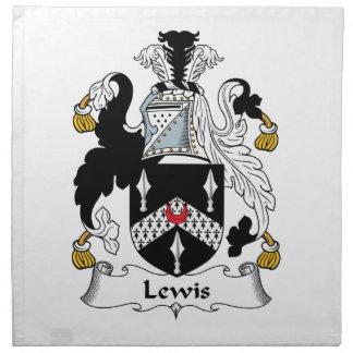 Escudo de la familia de Lewis Servilleta