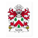 Escudo de la familia de Lewis Tarjeta Postal