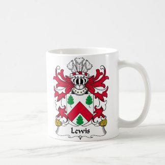 Escudo de la familia de Lewis Taza Básica Blanca