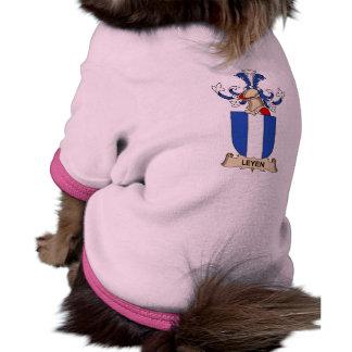 Escudo de la familia de Leyen Camisa De Mascota