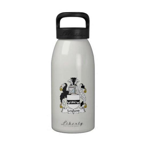 Escudo de la familia de Leyland Botella De Beber