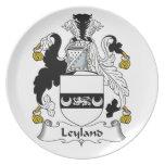 Escudo de la familia de Leyland Platos De Comidas