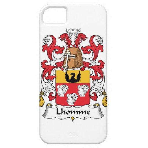 Escudo de la familia de Lhomme iPhone 5 Funda