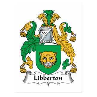 Escudo de la familia de Libberton Tarjeta Postal