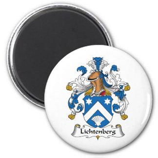 Escudo de la familia de Lichtenberg Imán Redondo 5 Cm