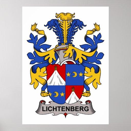 Escudo de la familia de Lichtenberg Póster