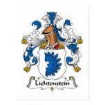 Escudo de la familia de Lichtenstein Postales