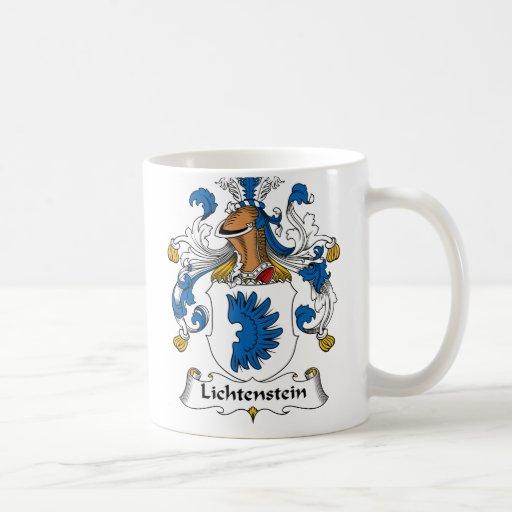 Escudo de la familia de Lichtenstein Tazas