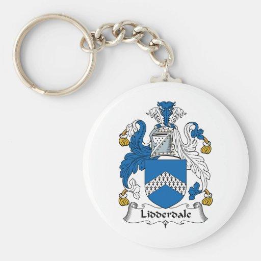 Escudo de la familia de Lidderdale Llavero Redondo Tipo Pin