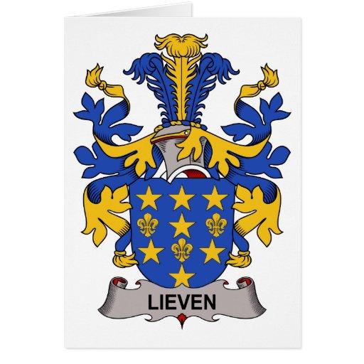 Escudo de la familia de Lieven Tarjeta De Felicitación