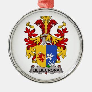 Escudo de la familia de Lilliecrona Adorno Navideño Redondo De Metal