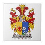 Escudo de la familia de Lilliecrona Tejas Ceramicas