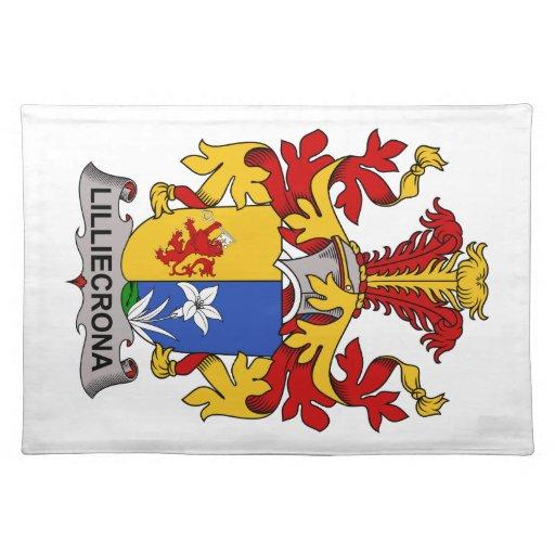 Escudo de la familia de Lilliecrona Manteles Individuales