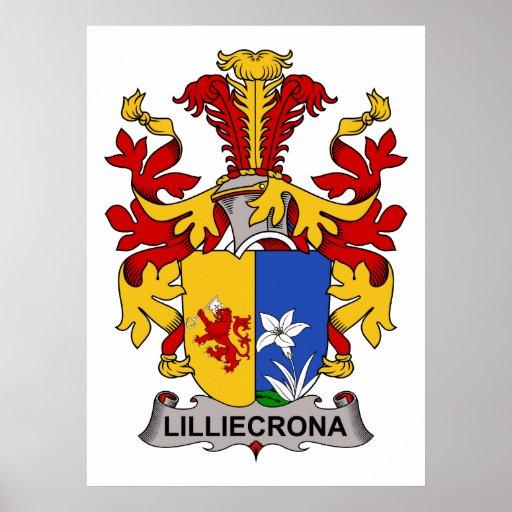 Escudo de la familia de Lilliecrona Posters