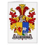 Escudo de la familia de Lilliecrona Tarjeta