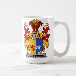 Escudo de la familia de Lilliecrona Taza Básica Blanca