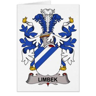 Escudo de la familia de Limbek Tarjeta De Felicitación