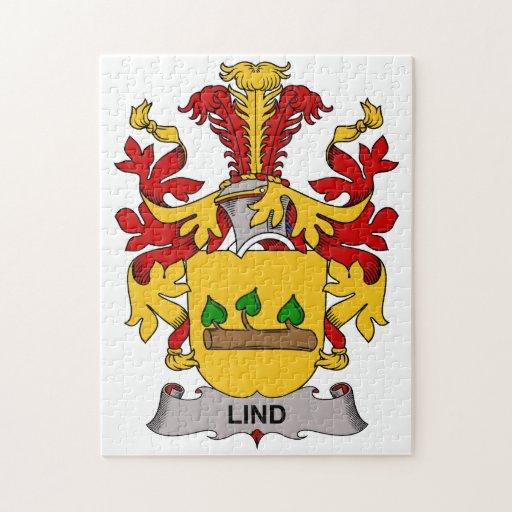 Escudo de la familia de Lind Rompecabezas Con Fotos