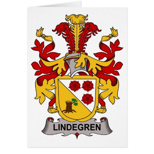 Escudo de la familia de Lindegren Tarjeta De Felicitación