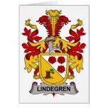 Escudo de la familia de Lindegren Tarjetas