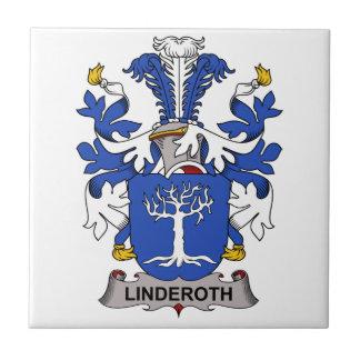 Escudo de la familia de Linderoth Azulejo Cerámica