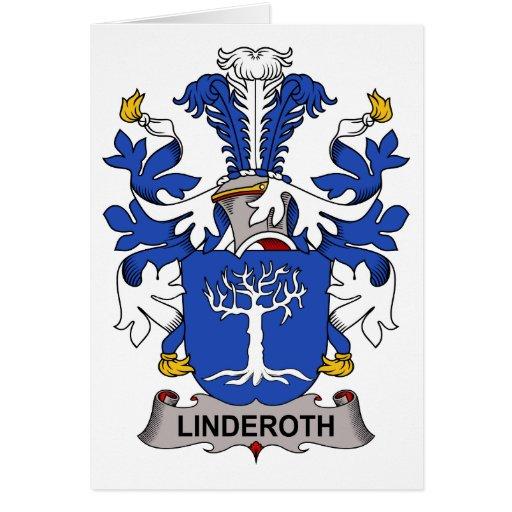 Escudo de la familia de Linderoth Felicitación