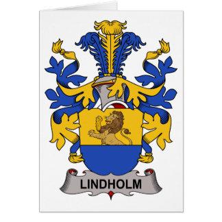 Escudo de la familia de Lindholm Tarjeta De Felicitación
