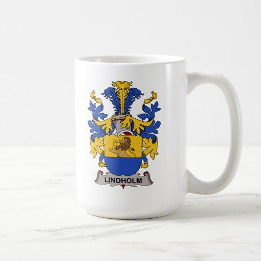 Escudo de la familia de Lindholm Tazas