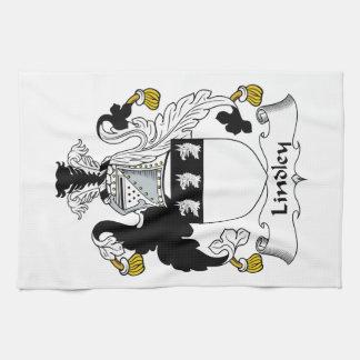 Escudo de la familia de Lindley Toallas De Cocina