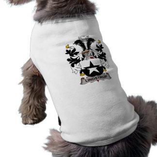 Escudo de la familia de Lindstrup Playera Sin Mangas Para Perro