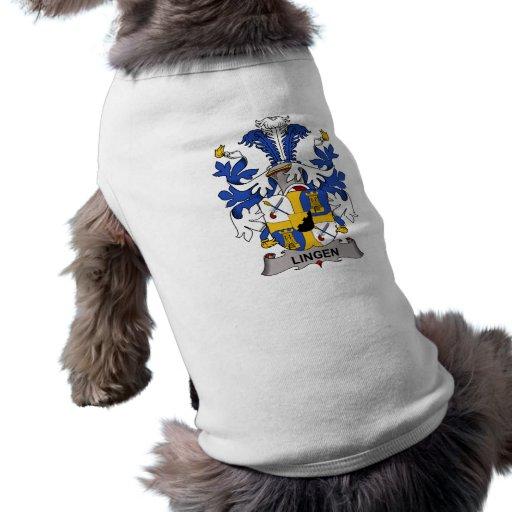 Escudo de la familia de Lingen Camiseta De Mascota