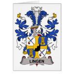 Escudo de la familia de Lingen Felicitación