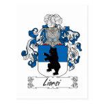 Escudo de la familia de Liorsi Tarjetas Postales