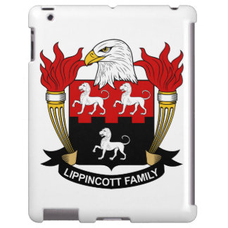 Escudo de la familia de Lippincott Funda Para iPad