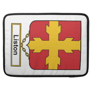 Escudo de la familia de Liston Fundas Macbook Pro