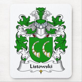 Escudo de la familia de Listowski Alfombrillas De Raton