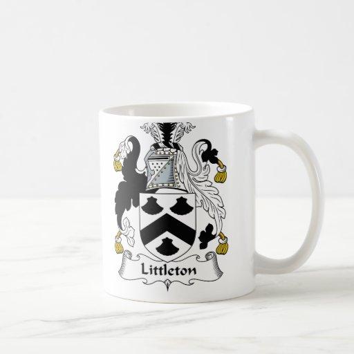 Escudo de la familia de Littleton Taza Clásica