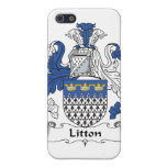 Escudo de la familia de Litton iPhone 5 Protector