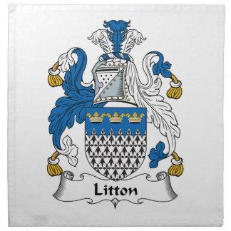 Escudo de la familia de Litton Servilleta