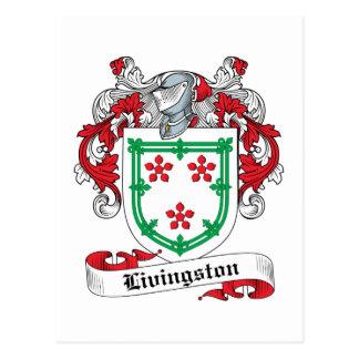 Escudo de la familia de Livingston Tarjetas Postales