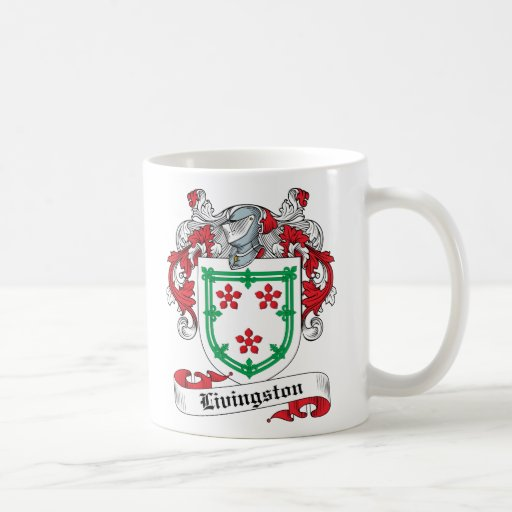 Escudo de la familia de Livingston Taza Básica Blanca