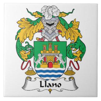 Escudo de la familia de Llano Azulejo Ceramica