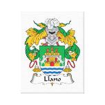 Escudo de la familia de Llano Lona Envuelta Para Galerías