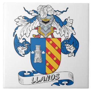 Escudo de la familia de Llanos Azulejo Ceramica