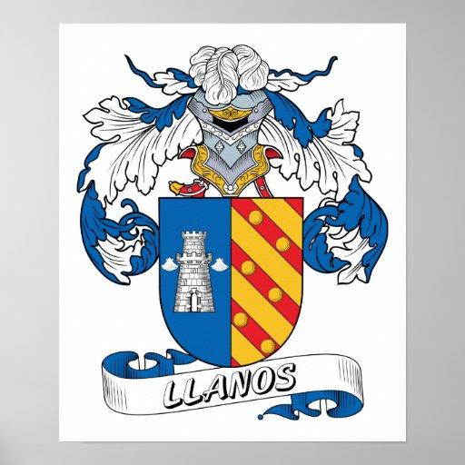 Escudo de la familia de Llanos Póster