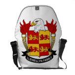 Escudo de la familia de Llewellyn Bolsa Messenger