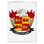 Escudo de la familia de Llewellyn Felicitación