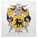 Escudo de la familia de Llobet Servilletas