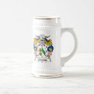 Escudo de la familia de Llorente Jarra De Cerveza